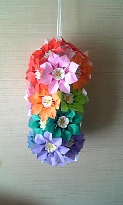 折り紙の 折り紙のくす玉 : staffblog.4cs.co.jp